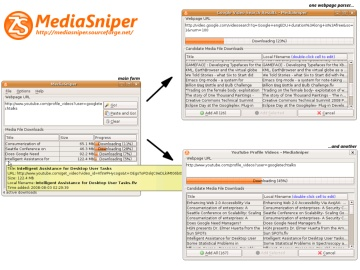 Screenshot of MediaSniper in Ubuntu