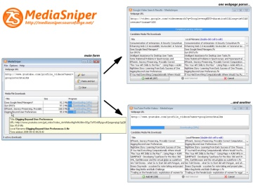 Screenshot of MediaSniper in Windows Vista