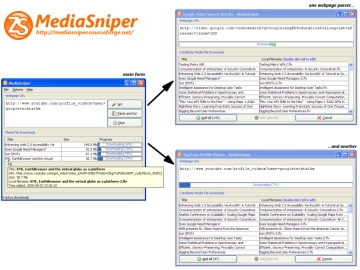 Screenshot of MediaSniper in Windows XP